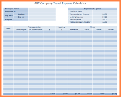 6+ Sample Business Expense Spreadsheet | Excel within Unique Business Forecast Spreadsheet Template