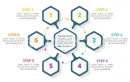 6 Steps Business Process Infographic Template Design intended for Business Process Design Document Template