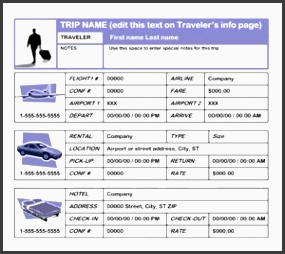 7 Business Travel Plan Sample - Sampletemplatess in Business Paln Template