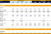 7 Excel Financial Model Template   Fabtemplatez inside Quality Business Plan Financial Projections Template Free