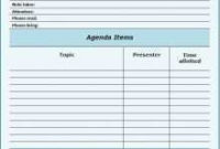76 How To Create Meeting Agenda Template With Action Items inside How To Create An Agenda Template