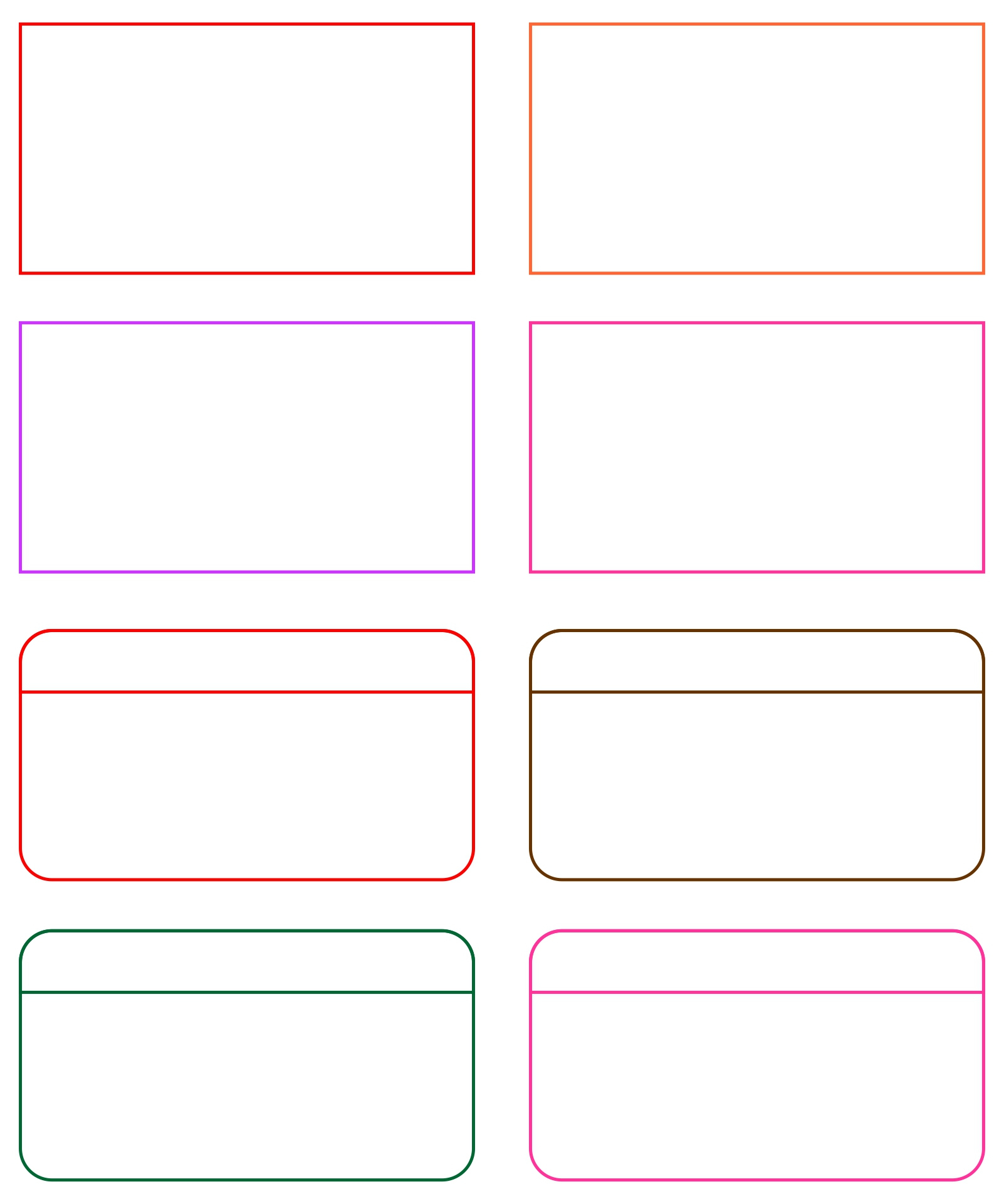 8 Best Images Of Card Word Template Printable - Printable intended for Fresh Free Blank Business Card Template Word