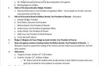 8+ Board Meeting Agenda - Samples, Examples, Templates inside Template For Business Meeting Agenda