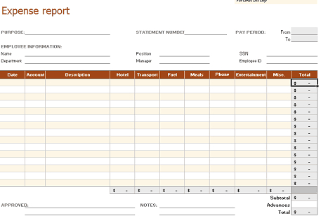 8+ Business Expense Tracker Templates - Excel Templates with Small Business Expenses Spreadsheet Template