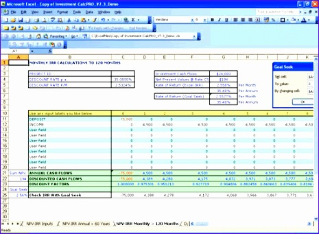 8 Npv Irr Calculator Excel Template - Excel Templates throughout Business Valuation Template Xls