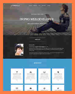 8+ One Page Company Profile Template | Company Letterhead within Unique One Page Business Website Template