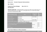 8 Printable Project Initiation Document Example Pdf Forms in Quality Business Case Cost Benefit Analysis Template