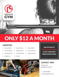 800+ Free Printable Flyer Templates & Examples | Lucidpress for Business Plan Template For A Gym