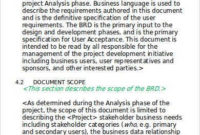 9+ Business Requirement Document – Word, Pdf Samples intended for Unique Sample Business Requirement Document Template