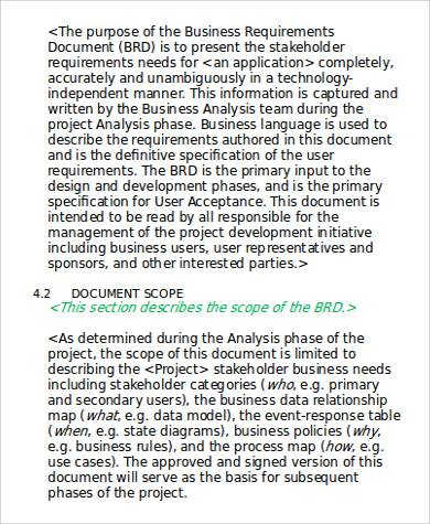 9+ Business Requirement Document - Word, Pdf Samples intended for Unique Sample Business Requirement Document Template