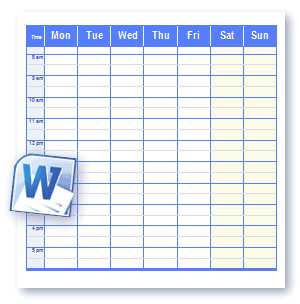 9+ Daily Work Schedule Templates - Excel Templates intended for Business Hours Template Word
