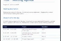 9 Free Meeting Agenda Template Microsoft Word in One On One Meeting Agenda Template Free