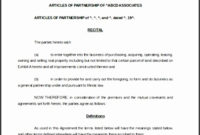 9 Restaurant Partnership Agreement Template inside Template For Business Partnership Agreement
