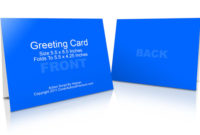 A2 Size Half Fold Greeting Card Cover Actions | Cover regarding Photoshop Cs6 Business Card Template