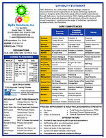 About Us| Opex Solutions, Inc. Inside Fresh Business Capability Map Template