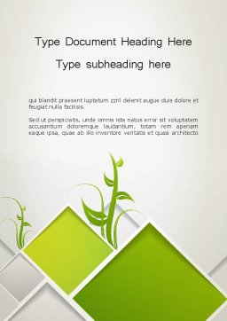Abstract Greenhouse Concept Word Template 12694 intended for Fresh Business Plan Title Page Template