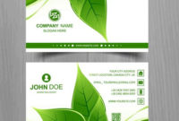 Abstract Leaf Business Card Template Design – Download within Best Business Card Powerpoint Templates Free