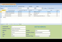 Access: How To Create Search Form Using Combo Box Part 1 in Small Business Access Database Template