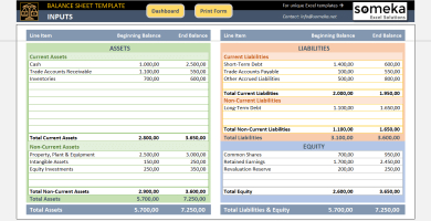 Accounting And Finance - Excel Templates & Spreadsheets regarding New Business Balance Sheet Template Excel