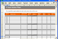 Action Plan Template (Ms Word) & Free Excel Spreadsheets intended for One Year Business Plan Template