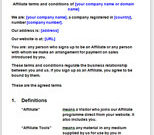 Affiliate Terms And Conditions Template   Affiliate Contract within Terms And Conditions Of Business Free Templates