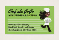 African American Catering Business Cards & Templates | Zazzle with Best Food Delivery Business Plan Template