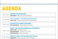 Agenda Format Sample - 9+ Examples In Word, Pdf intended for Party Agenda Template