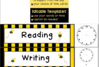 Agenda Schedule Cards {Editable} – Busy Bee Themethe in Level 10 Meeting Agenda Template
