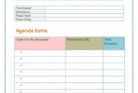 Agenda Template Without Times inside Project Management Meeting Agenda Template