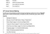 Agm Proxy Form Template Uk - Fill Out Online Forms intended for Agenda Template Word 2010