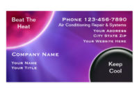 Air Conditioning Business Cards, 318 Business Card Templates inside New Hvac Business Card Template