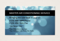 Air Conditioning Business Cards And Business Card throughout New Hvac Business Card Template