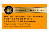 Air Conditioning Business Cards & Templates | Zazzle pertaining to Hvac Business Card Template