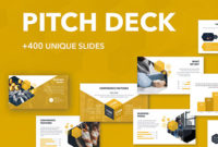 Annualreport Presentation Template On Behance within Business Idea Pitch Template