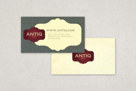 Antique Furniture Business Card Template   Inkd in Business Card Template Pages Mac