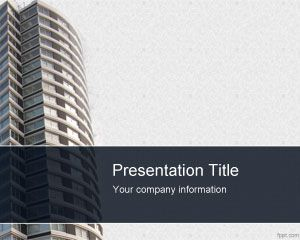 Apartment Buildings Powerpoint Template   Office for New Best Business Presentation Templates Free Download