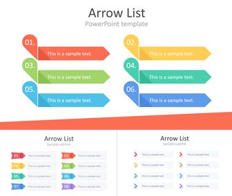 Arrow List Powerpoint Template - Templateswise inside Music Business Plan Template Free Download