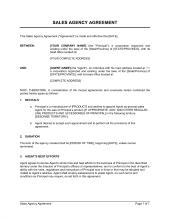 Artist-Agent Agreement Template - Word & Pdf |Business throughout Business Broker Agreement Template
