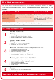 Assessment Templates Pdf. Download Fill And Print For Free in Small Business Risk Assessment Template