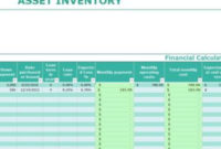 Asset Inventory Template – My Excel Templates In Business Plan For Sales Manager Template