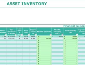 Asset Inventory Template - My Excel Templates in Business Plan For Sales Manager Template