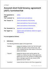 Assured Shorthold Tenancy Agreement - Furnished Flat with regard to Best Farm Business Tenancy Template