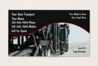Auto Detailing Business Cards & Templates | Zazzle throughout Transport Business Cards Templates Free