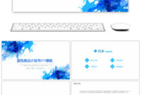 Awesome Blue And White Business Report Summary Template with Business Plan Template Powerpoint Free Download