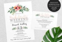 Bachelorette Party Invitation | Etsy in Bachelorette Party Agenda Template