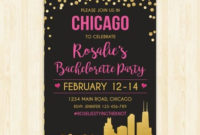 Bachelorette Party Weekend Invitation And Itinerary Custom within Bachelorette Party Agenda Template