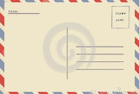 Back Of Airmail Blank Postcard. Stock Photo – Image: 43232579 regarding Music Business Plan Template Free Download