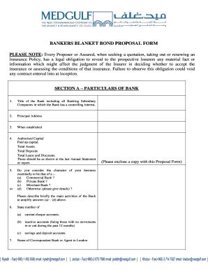 Bankers Blanket Bond Proposal Form - Fill Online regarding Best Business Proposal Template For Bank Loan