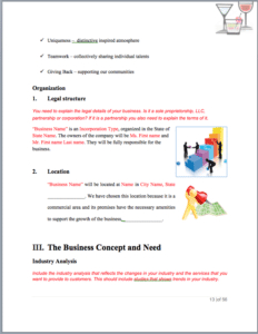 Bar Business Plan Template Sample Pages - Black Box for Template For Writing A Music Business Plan