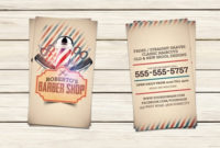 Barber Shop Business Card Templatehotpin On Dribbble inside Unique Hair Salon Business Card Template